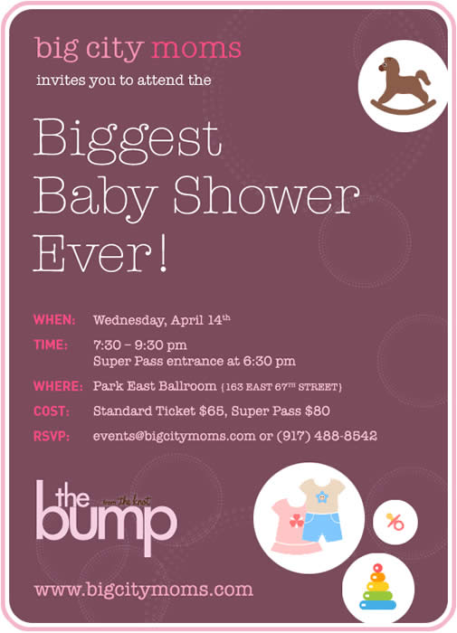 Big City Moms Biggest Baby Shower – Spring 2010 pretty awesome!