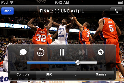 Get the March Madness games live on your iPhone or iPod Touch