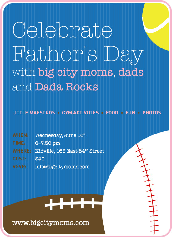 Celebrate Father's day with Big City Moms and DaDa Rocks! Win a family pass!