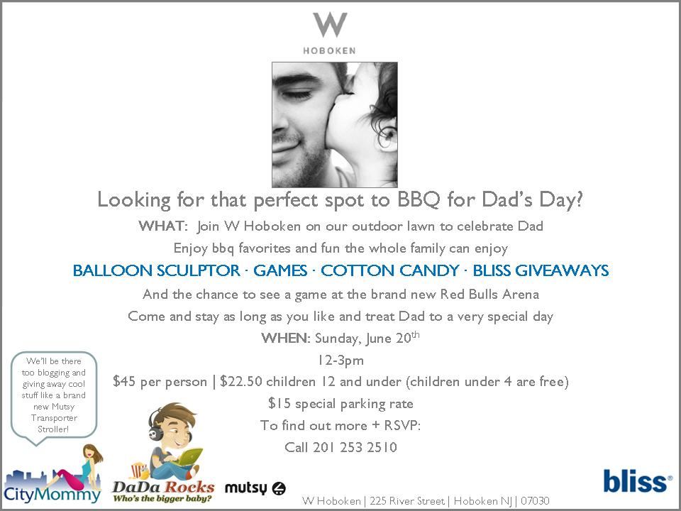 Father's Day BBQ at the W Hotel Hoboken – Win a Family Pack of tickets