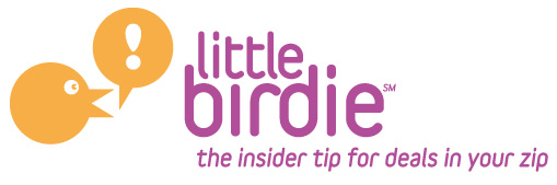 "Little birdie, your ""go to"" resource for insider tips for local, kid-friendly deals in your zip!"