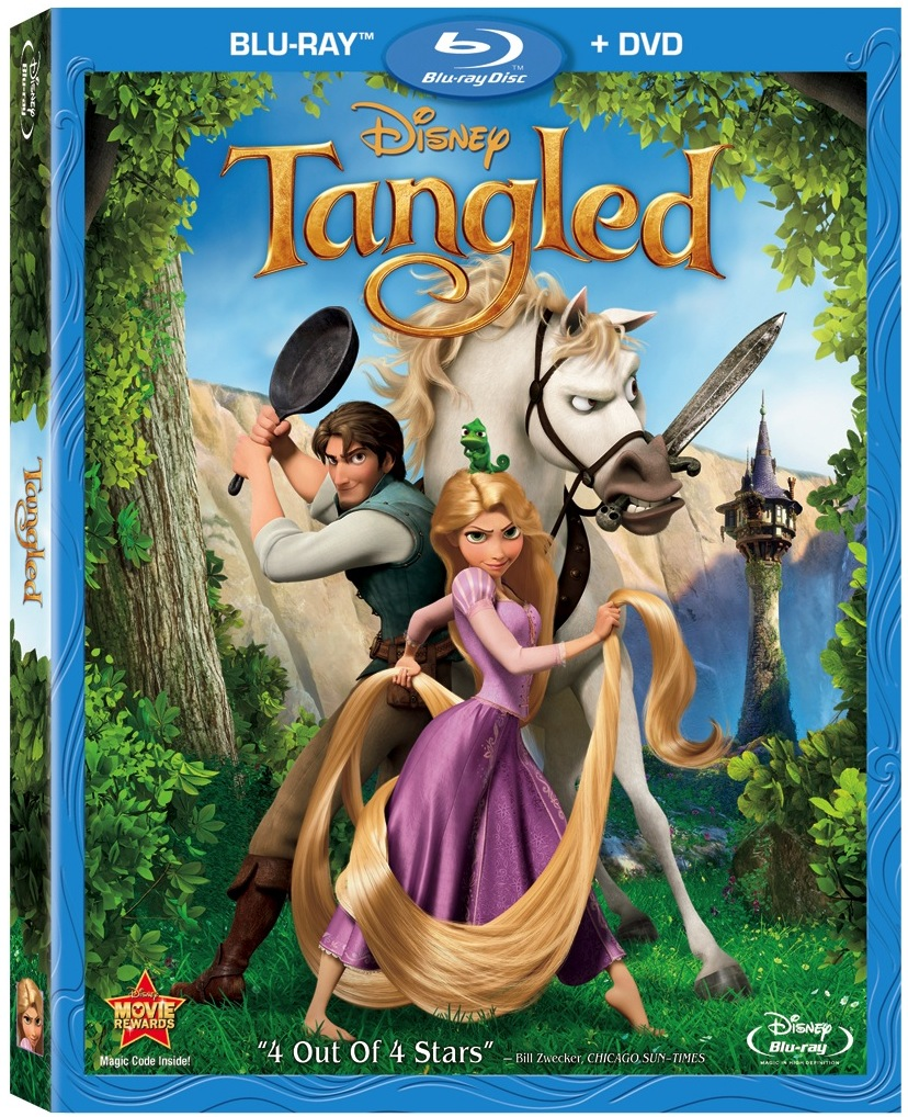 Tangled Blu-ray art