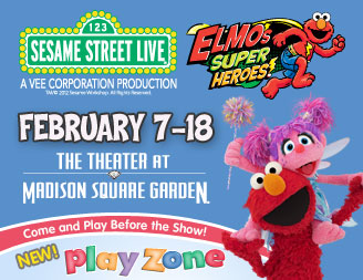 "Sesame Street Live ""Elmo's Super Heroes"" is coming to The Theater at MSG!"