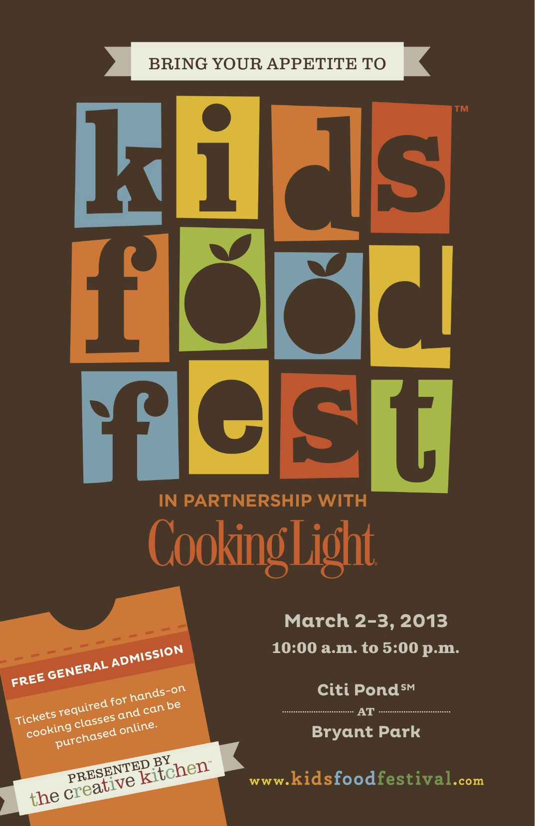 Kids food festival a weekend of flavorful fun at citi pond for Fun in nyc this weekend
