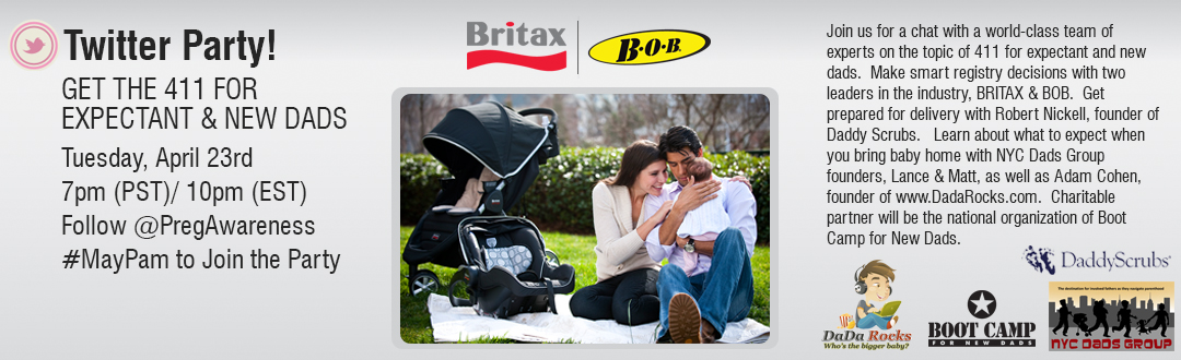 "Britax ""411 for Expectant and New Dads"" Twitter Party on 4/23 #MayPAM"