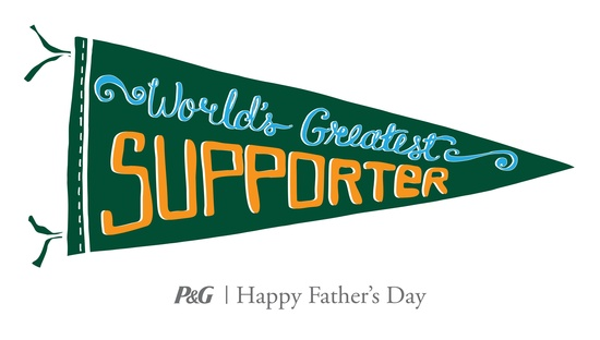 P&G's Thank you, Mom campaign is celebrating Dads with My Dad is the #WorldsGreatest…