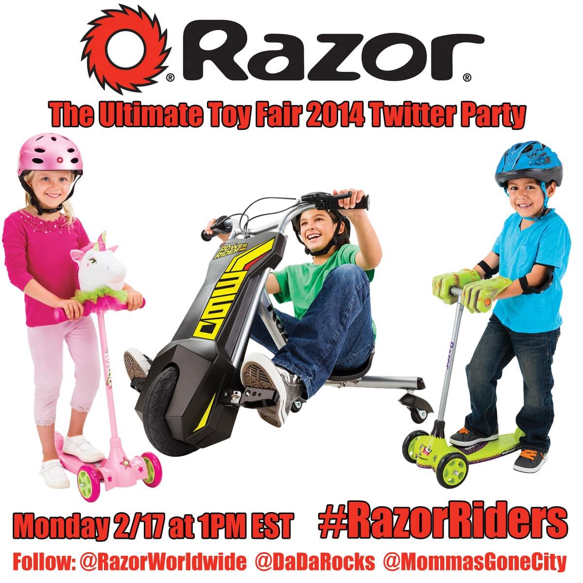 #RazorRiders Toy Fair 2014 Twitter Party!