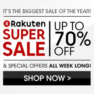 Rakuten Super Sale 70% off coupon