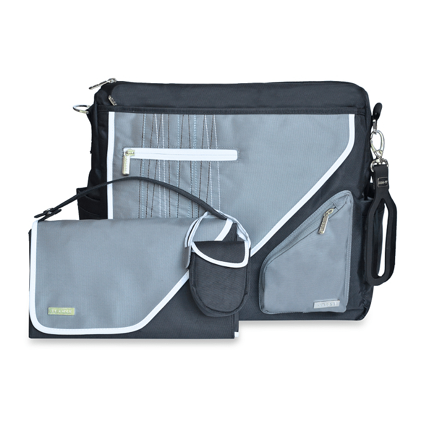 JJ Cole diaper bag shares a bag for both mom and dads