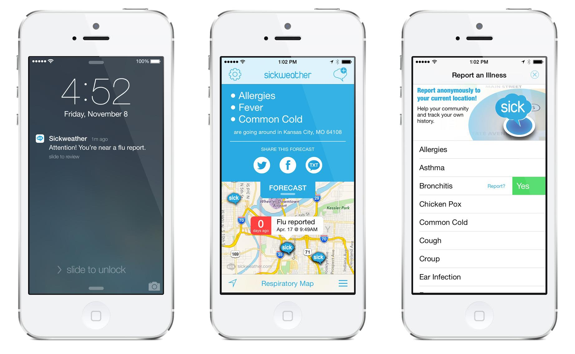 Sickweather App is a Parent's Doppler Radar for Sickness