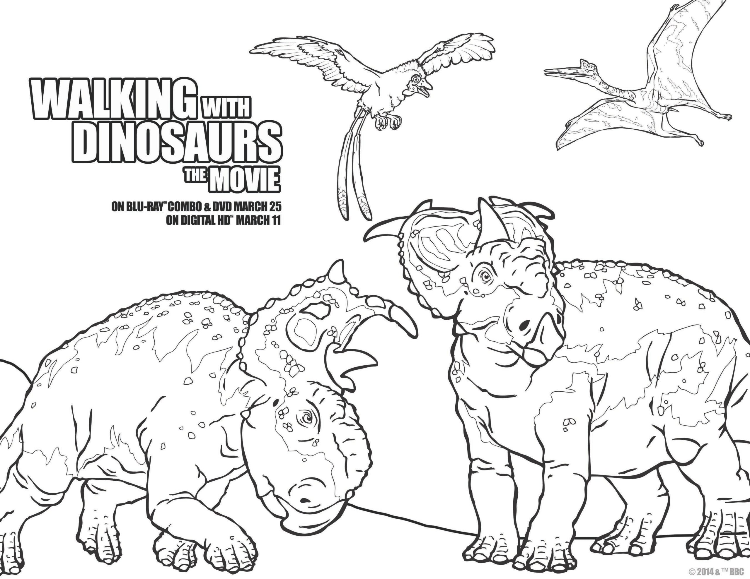 walking with dinosaurs coloring pages - photo #8