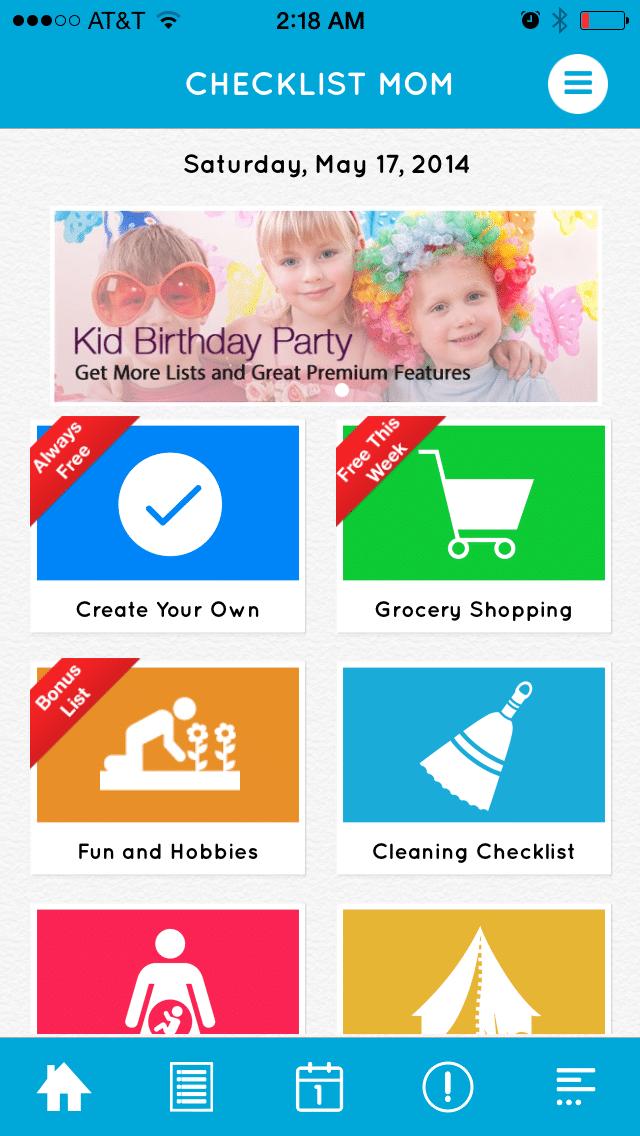 New App Release: Checklist Mom