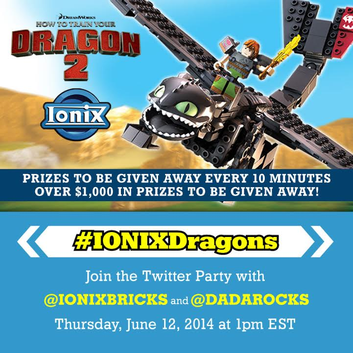 Ionix Bricks twitter party 6/12 at 1pm EST #IONIXDragons