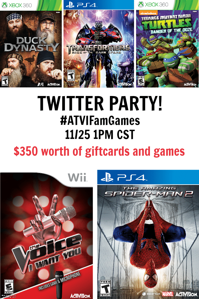 Join the Activision Twitter Party #ATVIFamGames on 11/25