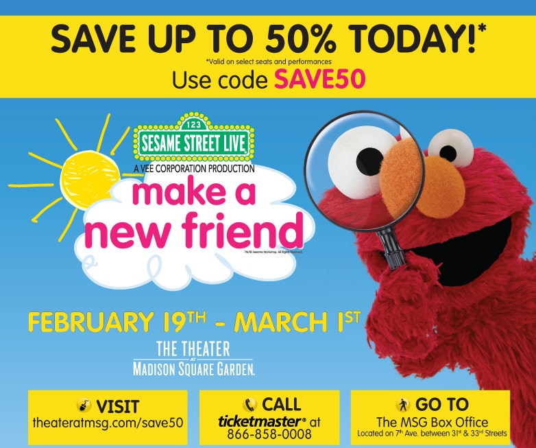 Sesame Street Live comes to the Theater at MSG