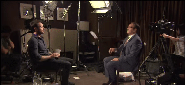Watch Kevin Spacey interview Charlie Cox #StreamTeam