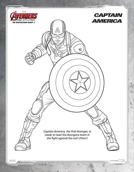 Avengers Coloring Pages Pdf : Celebrate the release of marvel s quot avengers age ultron