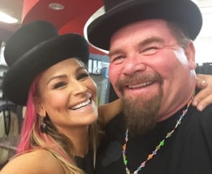 "WWE Diva Natalya and father Jim ""The Anvil"" Neidhart"