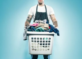 A basket full of laundry #HeroClean