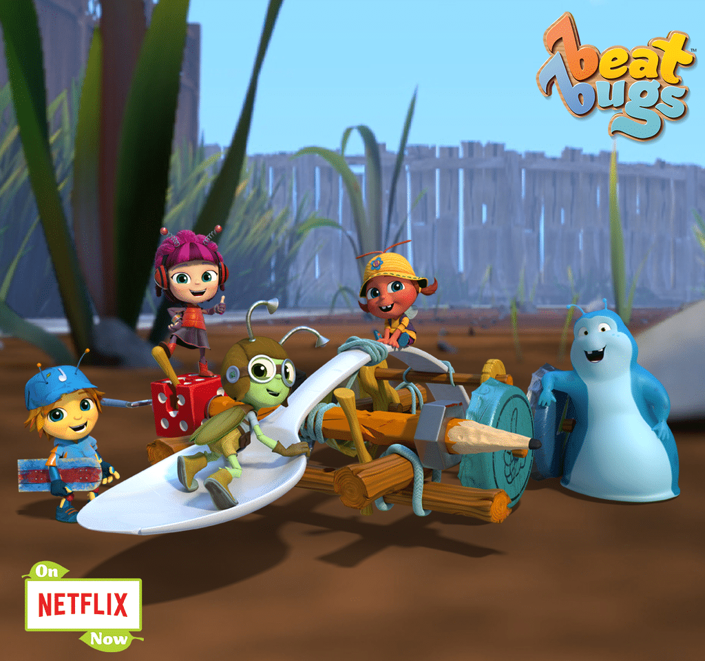 The Beat Bugs jam on Netflix