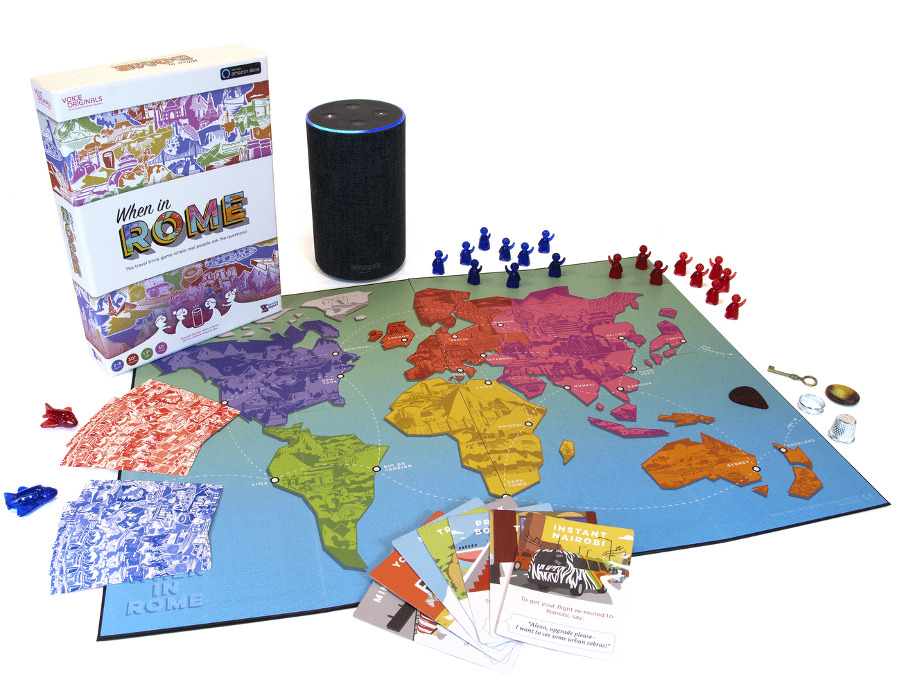 Voice Originals: When In Rome is a board game you play with your ALEXA SPEAKER